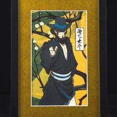 Lupin the Third Ukiyoe Woodblook Print - Daisuke Jigen