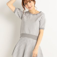 LIZ LISA Checkered Gingham Shirt