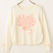 LIZ LISA Heart x Candy Print Knit Top