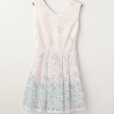 LIZ LISA Checkered Lace Flower Dress