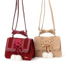 LIZ LISA Laced-Up Pom Pom Bag