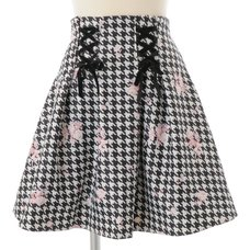 LIZ LISA Houndstooth Floral Skirt