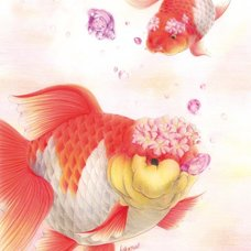 "Sakura Exhibition: deme*tyoubi ""Bubbles of Cherry Blossoms"" Poster"
