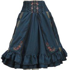 Ozz Oneste Print Layered Teal Skirt