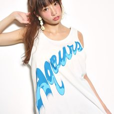 Love Live! Sunshine!! Aqours Blue Logo Tank Top