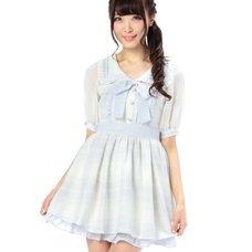 LIZ LISA Check Sailor Suit Style Dress