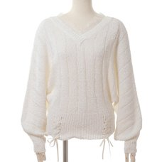 LIZ LISA Ribbon Yarn Dolman Top