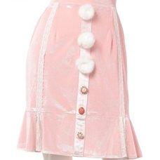 Swankiss Velour Bonbon Tight Skirt