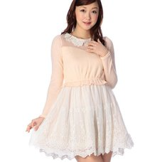 LIZ LISA Flower Lace Collar Dress
