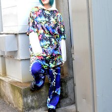 ACDC RAG Space Cat & Dinosaur T-Shirt Dress
