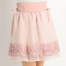 LIZ LISA Ballet Embroidery Skirt