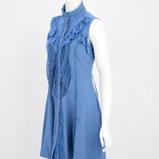 Ozz Oneste Frilled Lace Sleeveless Long Blouse
