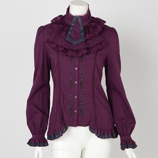 Rozen Kavalier Collared Embroidered Blouse