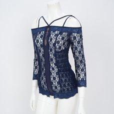 Rozen Kavalier Open Zipper Lace Cutsew