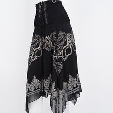 Rozen Kavalier Ornament Print Skirt