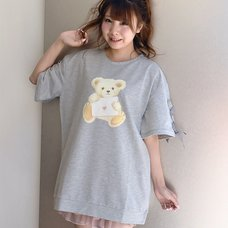 LIZ LISA Bear Print Fleece-Lined Top