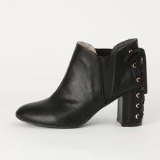 Honey Salon Lace-Up Booties (Black)