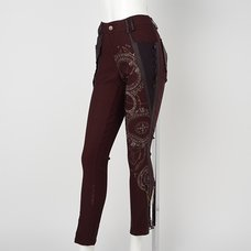Ozz Croce Magical Circle Print Skinny Pants