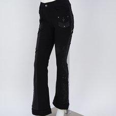 Ozz Croce Crack Print Bootcut Pants