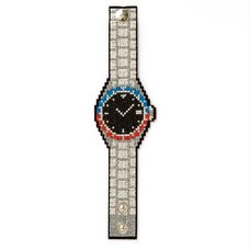 Olex!! Embroidered Designer Watch-Shaped Bracelet
