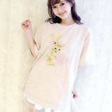 LIZ LISA Rabbit Print Big T-Shirt