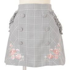 LIZ LISA Plaid Trapezoid Skirt