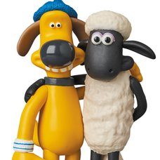 Ultra Detail Figure Aardman Animations #2: Shaun the Sheep Shaun & Bitzer