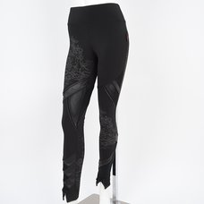 Ozz Oneste Cloud Pattern Asymmetrical Leggings