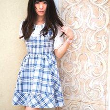 LIZ LISA Checkered Pinafore Dress