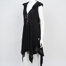 Rozen Kavalier Sleeveless Hooded Cardigan