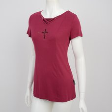 Ozz Croce Embroidered Cross T-Shirt