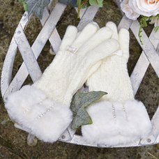 LIZ LISA Cable Knit Gloves