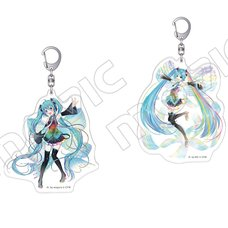 Vocaloid Hatsune Miku Big Acrylic Keychain Charm Collection