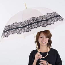 pink trick Lace & Ribbon Umbrella (Rain/UV Protective)