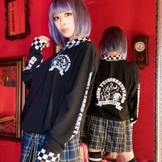 LISTEN FLAVOR Graveyard Party Night Long Sleeve Collared Top