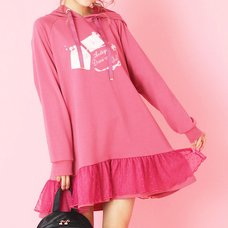 LIZ LISA Love Letter Fleece-Lined Hoodie Dress