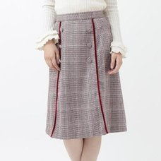 LIZ LISA Scalloped Checkered Skirt