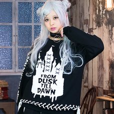 LISTEN FLAVOR Dreamy Castle Lace-Up Pullover
