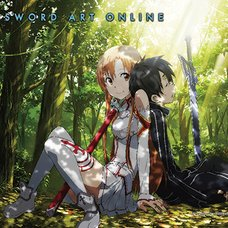 Sword Art Online - Kirito & Asuna Forest Fabric Poster