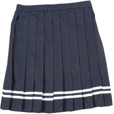Teens Ever Navy Blue x White Lines High School Uniform Skirt