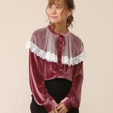 Honey Salon Tulle Collar Blouse