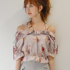 LIZ LISA Rose Pattern Top