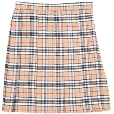 Teens Ever Beige x Black High School Uniform Skirt