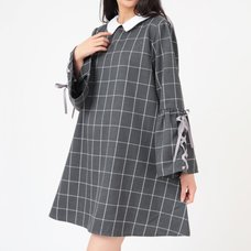 LIZ LISA Collared Checkered Dress