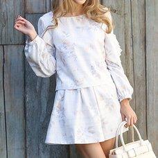 LIZ LISA Tweed Floral Short Jumpsuit