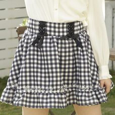 LIZ LISA Gingham Sukapan Skirt