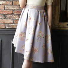 LIZ LISA Rose Pattern Asymmetric Skirt