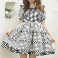 LIZ LISA Gingham Ribbon Dress