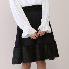Honey Salon Fur Combi Skirt