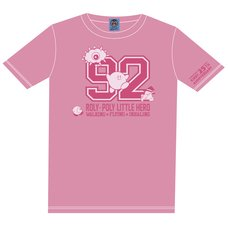 The King of Games Kirby 25th Anniversary Numbering Pink T-Shirt w/ Plush Mascot